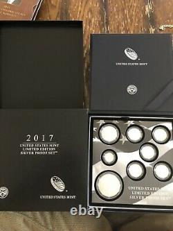 2017 Limited Edition Silver Proof Set (17RC) 1 oz Proof S Mint Silver Eagle OGP
