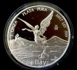 2017 Mexico Libertad 7 Coin Silver Proof Set withCOA, Box