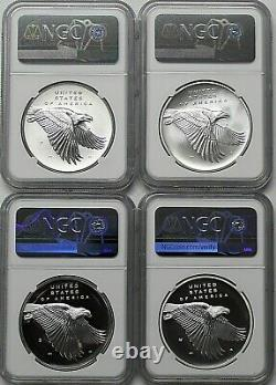 2017 PDSW 225th Anniversary American Liberty Silver Medal Set NGC 70/70/70/70