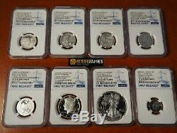 2017 S Proof Silver Eagle Ngc Pf70 Ultra Cameo Fr 8 Coin Limited Edition Set