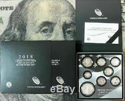 2018-S LIMITED EDITION SILVER PROOF SET US. MINT- With EAGLES, PROOF