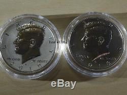 2018 S Silver Kennedy 2 Coins (TWO) Reverse Proof & ERROR / VARIETY in FINISH