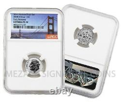 2018-S Silver Reverse Proof 50th Anv Set Early Releases Reverse PF70 NGC Bridge