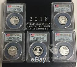 2018 S United States Mint Limited Edition Silver Proof Set PR70DC FIRST STRIKE