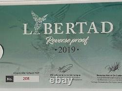 2019 Mexico Libertad SILVER Reverse Proof Set 5 Onza & 2 Oz + Box + COA Nice