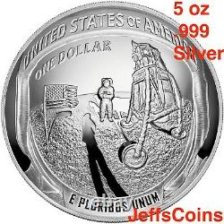 2019 P Apollo 11 50th Anniversary PROOF Silver Dollar 1 oz. 999 Coin 19CC 99.9%