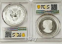 2019 Pride of Two Nations 2-coin Set PCGS PR70 Silver Set Reverse Proof Modified