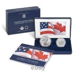 2019 Pride of Two Nations Silver 2pc. U. S. Set Box OGP & COA