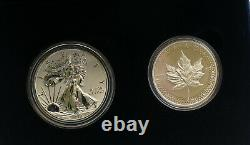 2019 Pride of Two Nations Silver American Eagle & Maple Enhanced Reverse Proof