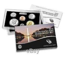 2019 SILVER PROOF SET withW REVERSE LINCOLN CENT NGC PF70 RD First Day of Issue