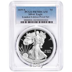 2019-S Limited Edition Proof Set $1 American Silver Eagle PCGS PR70DCAM Blue Lab