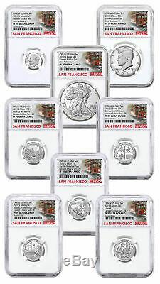 2019-S Limited Edition Silver Proof Set 8pc. NGC PF70 Trolley F. S. Label