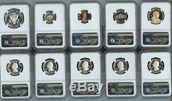 2019-S Silver Proof Set 10-Coin (10pcs) NGC PF70