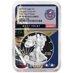 2019-W Proof $1 American Silver Eagle Congratulations Set NGC PF70UC FDI West Po
