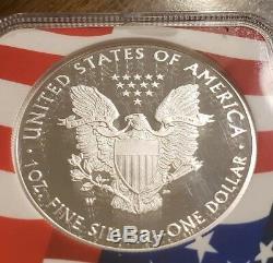 2019-W Proof American Silver Eagle Congratulations Set NGC PF70UC ER Flag Core