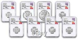 2019-s 8pc Limited Edition Silver Proof Set Ngc Pf70 Fdi Mercanti Signature
