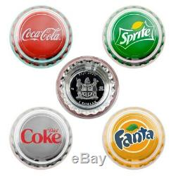 2020 6g Fiji Coca-Cola Vending Machine Silver Proof Four Coin Set PRE-ORDER