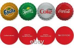 2020 Coca-cola- Fanta -sprite- Diet-coke- Vending Machine 4 Coin Silver Set