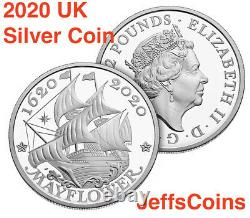 2020 P 400th Anniversary of Mayflower Voyage 2 Silver Set Proof Coin +Medal 20XB