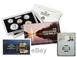2020 SILVER PROOF SET with FIRST W REVERSE PF NICKEL, NGC PF70 FDOI, PRESALE, JEFF
