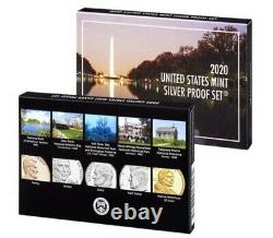 2020 SILVER PROOF SET with FIRST W REVERSE PF NICKEL, NGC REV PF69, PORTRAIT LABEL