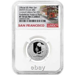 2020-S Limited Edition Silver Proof Set 8pc. NGC PF70 FDI Trolley Label