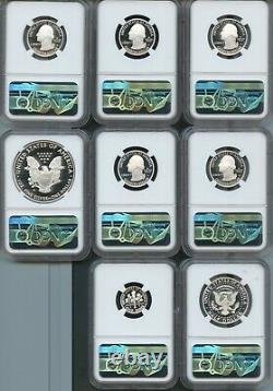 2020 S Silver Proof Set Limited Edition First Releases (8pc) NGC PF70 UC TROLLEY