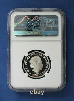 2020 Silver Proof 50p coin Tokyo Olympics Team GB NGC Graded PF69
