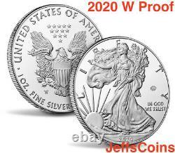 2020 W End of World War II 75th Anniversary American Eagle Privy V75 Silver 20XF