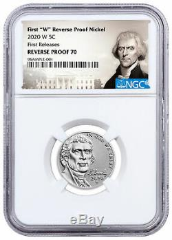 2020 W Jefferson Nickel NGC Rev PF70 FR+2020 Silver Proof Set PRESALE SKU61145