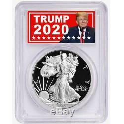 2020-W Proof $1 American Silver Eagle Congratulations Set PCGS PR70DCAM Trump 20