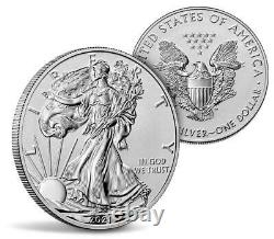 2021 Reverse Proof Silver Eagle 2 Coin Designer Set, Ngc Rev Pf 70 First Release