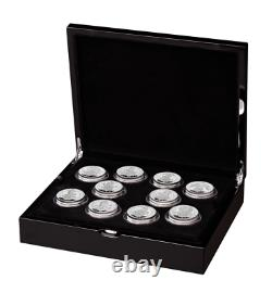2021 Royal Mint Queens Beast's 10 Coin Silver Proof Two Ounce Set 2oz SOLD OUT