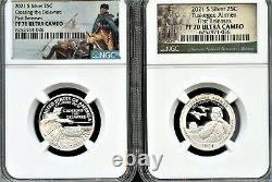 2021 S Silver 99.9 2PC Quarter Set FR NGC PF70 UC (Park)- IN STOCK