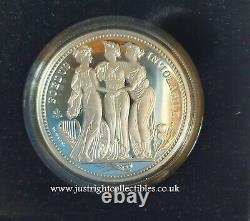 2021 St. Helena Three Graces 1 Oz Silver Proof Coin with coa and box Low Mintage