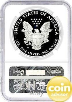 2021 W $1 Proof Silver Eagle Type 1 Congratulations Set NGC PF70 FDOI Mercanti