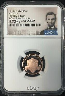 2021-s Ngc Pf70 Ucameo 7 Coin. 999 Silver Proof Set First Day Issue Ships Now