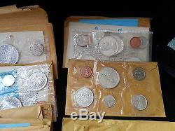 23 Canadian Silver Proof/Mint Sets 1961 thru 1967 + 2 1964 BU Silver $$-#5089