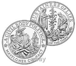 400th Anniversary of the Mayflower Voyage Silver Proof Coin & Medal Set