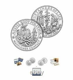 400th Anniversary of the Mayflower Voyage Silver Proof Coin and Medal Set 20XB