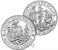 400th Anniversary of the Mayflower Voyage Two-Coin Gold Proof Set + Silver Set