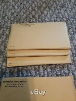 41 Sealed Us Silver Proof Sets 1954 1955 1957 1958 1959 1960 1961 1962 1963 1964