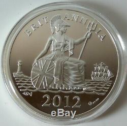 5oz solid. 999 silver proof coin set 60 diamonds Ltd. Ed. 2012 boxed & COA -1229