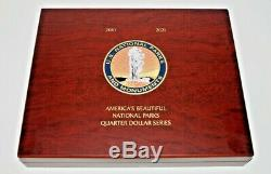 America the Beautiful ATB Quarters Silver Proof Complete Set (To Date) 2010-2019