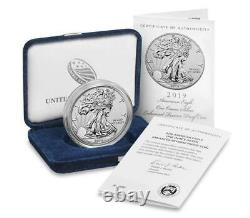 American Eagle 2019 One Ounce Silver ENHANCED REVERSE Proof S Dollar. 999 19XE