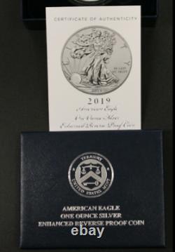 American Eagle 2019 S ENHANCED REVERSE Proof PR69 Dollar 19XE Silver NGC PF69
