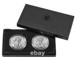American Eagle 2021 One Ounce Silver Reverse Proof Two Coin Set Designer Edition
