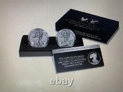 American Eagle 2021 One Ounce Silver Reverse Proof Two-Coin Set Pre sale