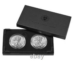 BOX IN HAND American Eagle 2021 One Ounce Silver Reverse Proof Two-Coin Set
