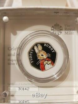 Beatrix Potter 2018 Silver Proof 50p 4 Coin Set With Box / COA Inc. Peter Rabbit